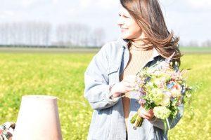 Tess met bloemen